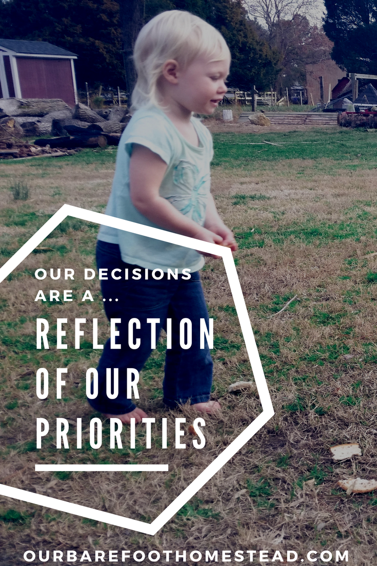 Our decisions are a reflection of our priorities. How are your priorities reflected in your decisions?