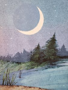The moon in I'm a Duck by Eve Bunting
