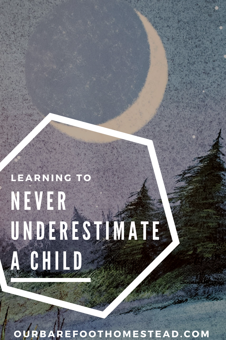 Learning to never underestimate a child by Our Barefoot Homestead
